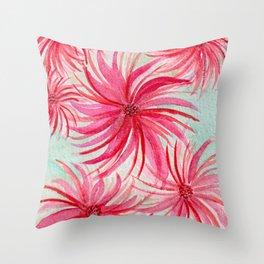 Festive Pinwheel Swirls Watercolor Custom Design Throw Pillow