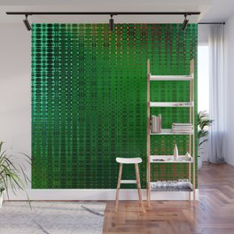 Retro Grid Oasis Wall Mural