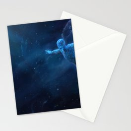 Orchid. Flying in space Stationery Cards