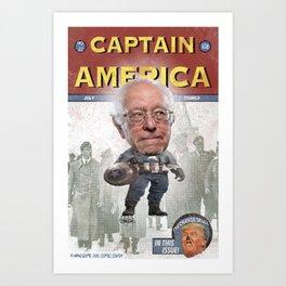 Captain Bernie versus the Orange Skull Art Print