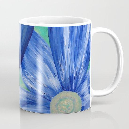 Large Blue Flowers Coffee Mug