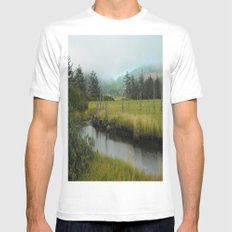 Mystery In Mist MEDIUM White Mens Fitted Tee