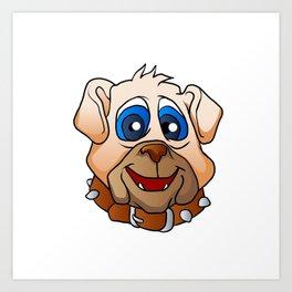 bulldog face. Art Print