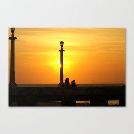 Romancing The Sunset 2 Canvas Print