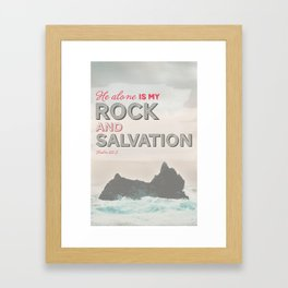 Rock & Salvation Framed Art Print