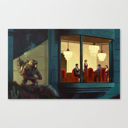 Poker Players Canvas Print