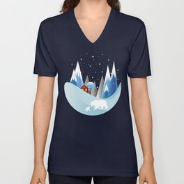 Snowing Bubble Unisex V-Neck