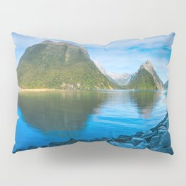 Serene Morning at Milford Sound Pillow Sham