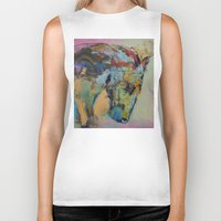 study Biker Tanks featuring Horse Study by Michael Creese