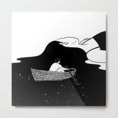 Rowing to you Metal Print
