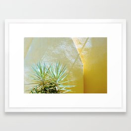 Yellow palm Framed Art Print