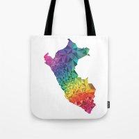 peru Tote Bags featuring Peru colors by Romivavi