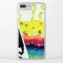 Dark and Light Clear iPhone Case