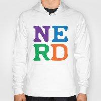 nerd Hoodies featuring Nerd by Jenna Allensworth