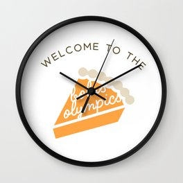 Welcome to the Bolus Olympics Wall Clock
