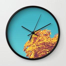 Golden Tree Wall Clock