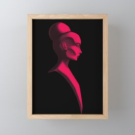Red Cameo Framed Mini Art Print