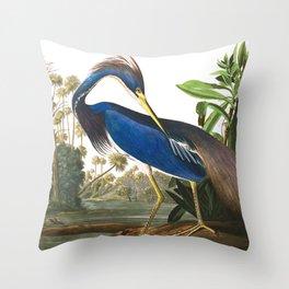 Louisiana Heron by John James Audubon Throw Pillow