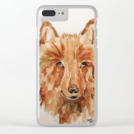 Maggie's Wolfe Clear iPhone Case