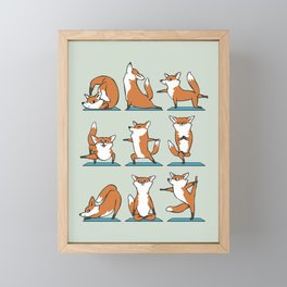 Fox Yoga Framed Mini Art Print