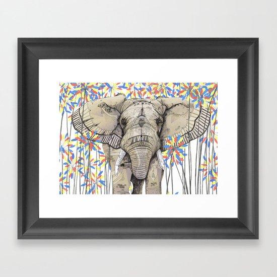 Elephant // Endangered Animals Framed Art Print