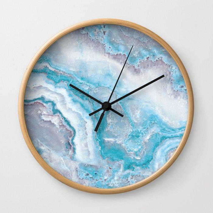 Ocean Foam Mermaid Marble Wall Clock