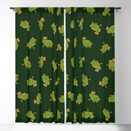 Frog Prince Pattern Blackout Curtain