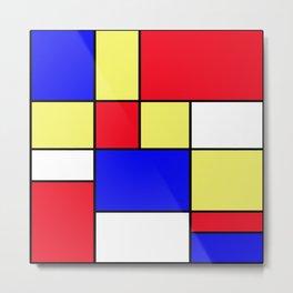 Mondrian #412 Metal Print