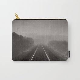 """""""Bird through the foggy railway"""" Carry-All Pouch"""