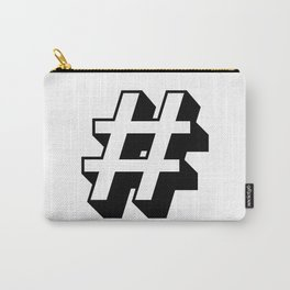 Hashtag # Carry-All Pouch