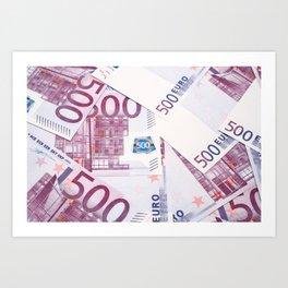 500 Euros bills Art Print