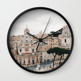 View of Rome from Piazza Venezia, Italy Wall Clock