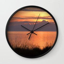 Sundown Gold Wall Clock