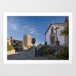 Linhares castle, Portugal Art Print