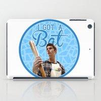 stiles stilinski iPad Cases featuring Stiles Stilinski - Bat by JulietteGD