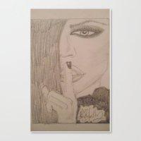 kardashian Canvas Prints featuring Khloe Kardashian. by TheArtOfFaithAsylum