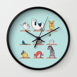 Vegan Yoga Wall Clock