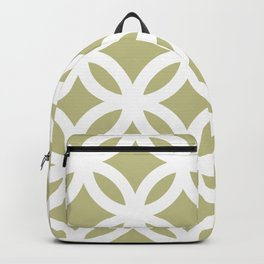 White Circles Pattern Backpack
