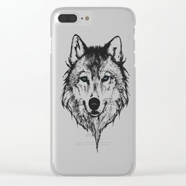 Ghost Wolf Clear iPhone Case