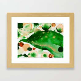 Green Study Framed Art Print