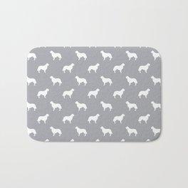 Golden Retriever dog silhouette grey and white minimal basic dog lover pattern Bath Mat