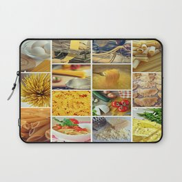Collage Pasta food Laptop Sleeve