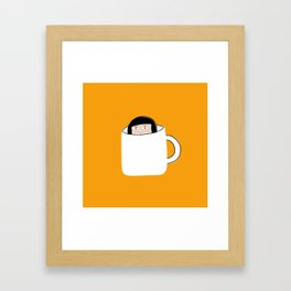 Hiding in a Tea Cup Framed Art Print