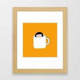 Hiding in a Tea Cup Framed Art Print