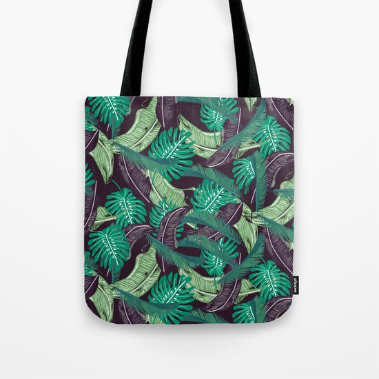 Tropical leaves I Tote Bag