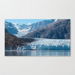 Deep Blue Glacier Canvas Print