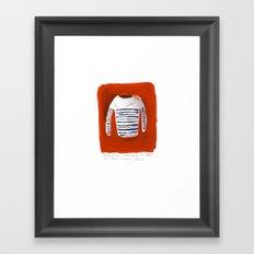 Breton Sweater Framed Art Print