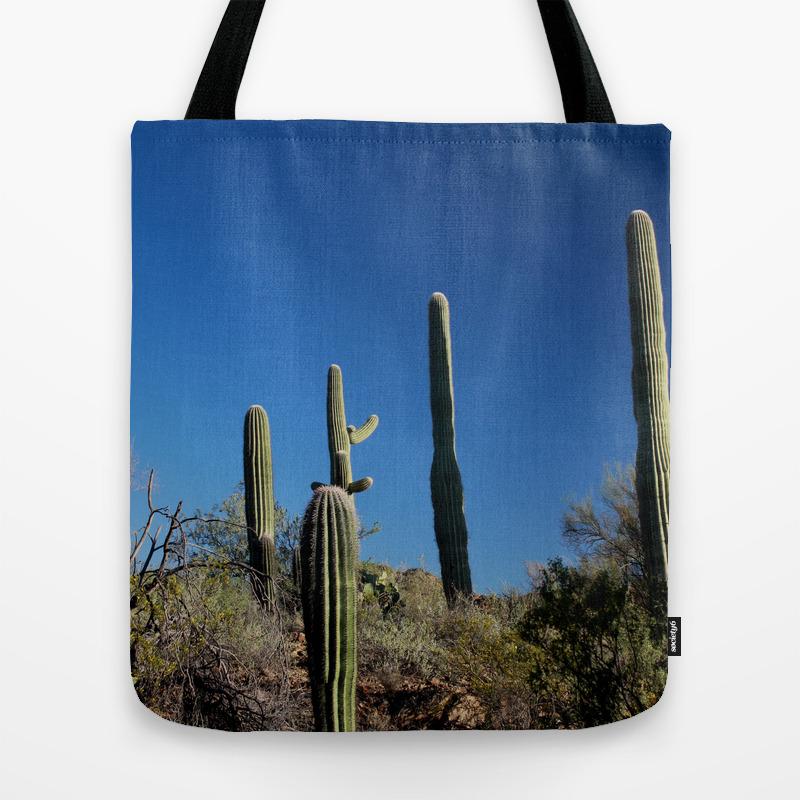 Saguaro Cactus At Picture Rocks I Tote Purse by Timrahija (TBG9858730) photo