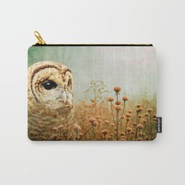 Barred Owl in Foggy Forest Carry-All Pouch