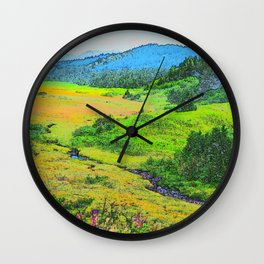 Alaska's Kenai Peninsula - Watercolor Wall Clock